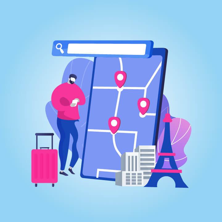 travel app development cost blog