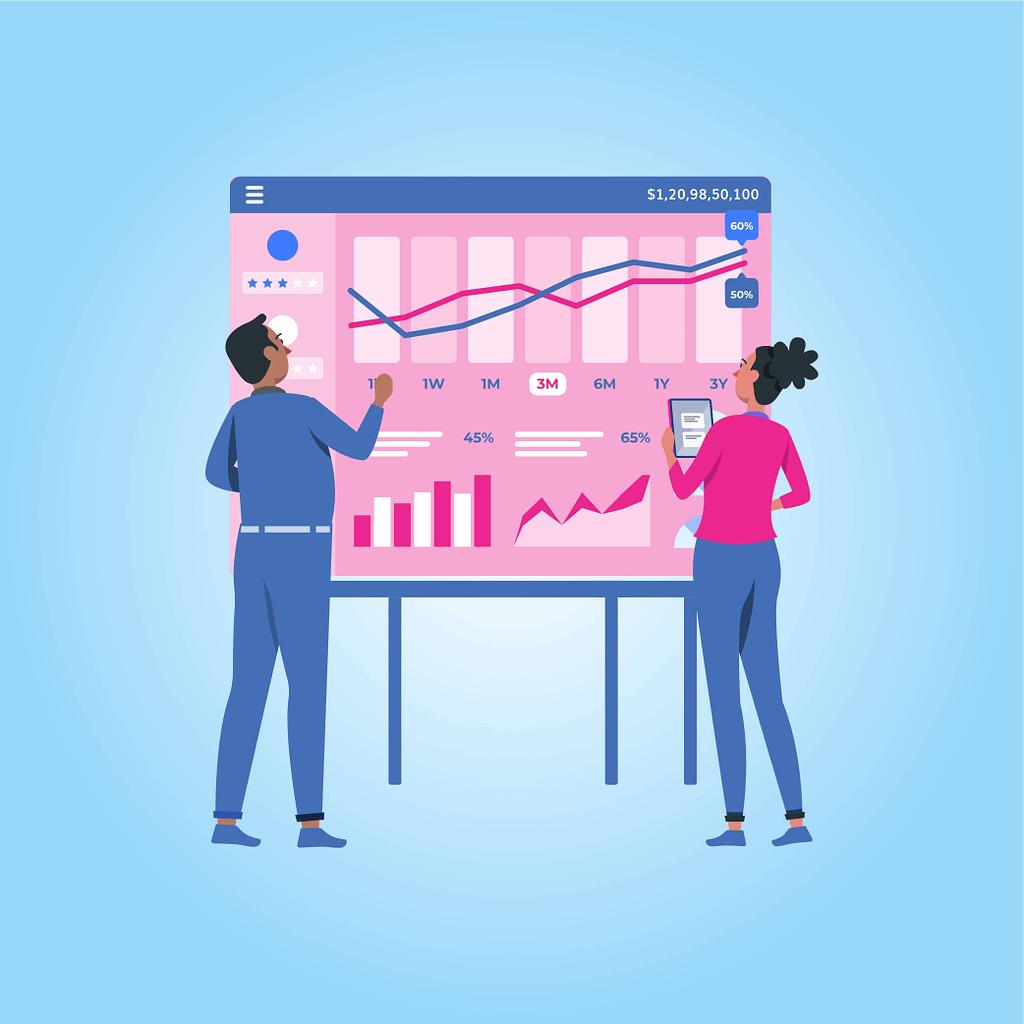visual dashboard development metrics